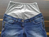 C&A Yessica  Schwangerschaftsjeans  Umstandshose Jeans Gr. 40 blau