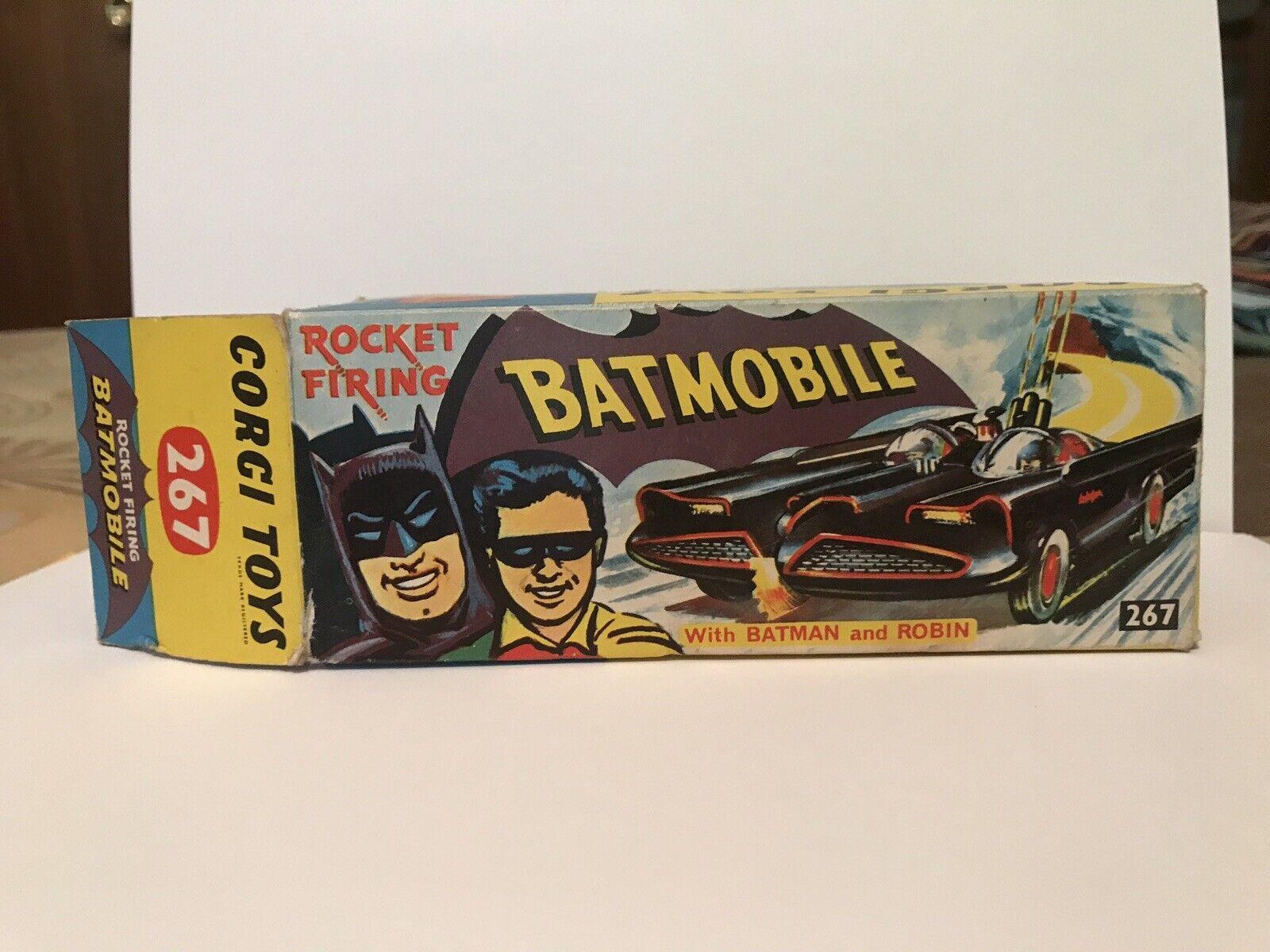 CORGI 267 BATMOBILE 1966 ORIGINAL AND BOX ;  RARE