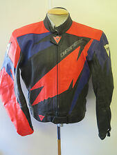 """Giacca IN PELLE DAINESE VINTAGE CAFE RACER MOTO GIACCA BIKER L 44"""" EURO 54"""