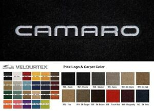 Lloyd Mats Camaro Custom Embroidered Velourtex Front Floor