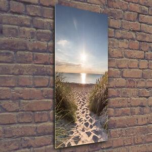 Wandbild-Druck-auf-Plexiglas-Acryl-Hochformat-50x125-Kustendunen