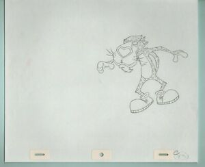 Cheetos-Chester-Cheetah-Drawing-cel-C23-1990-039-s-Frito-Lay-One-cool-cheesy-cat