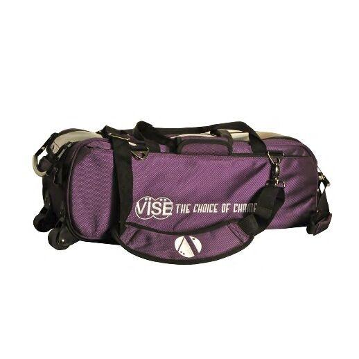 Vise 3 Ball Triple Tote Bowling Bag Purple