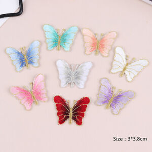 5Pcs-Embroidery-Butterfly-Sew-On-Patch-Badge-Embroidered-Fabric-Applique-Nk