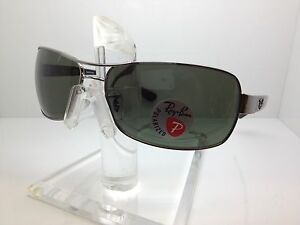 25e417533dc AUTHENTIC RAYBAN SUNGLASSES RB3379 004 58 64MM RB 3379 POLARIZED ...