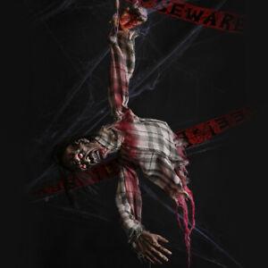 Zombie-Suspendu-Halloween-Prop-Sound-Activated-animatronique-Effrayant-Decoration