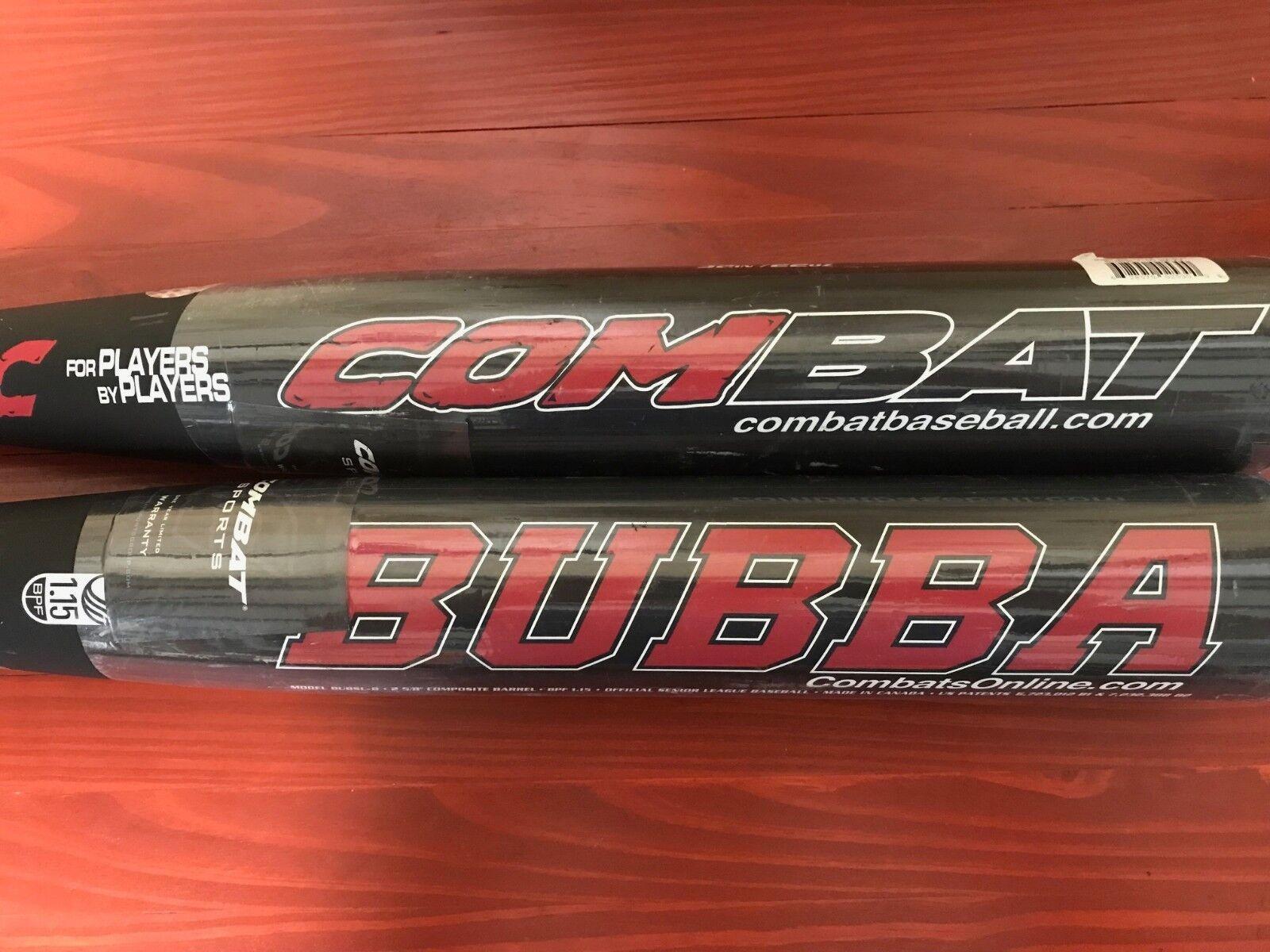 Combat Bubba barrel Baseball Bat SL 2 5/8 big barrel Bubba USSSA 1.15BPF Easton Warranty 1355d5