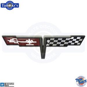 1981-Corvette-Fuel-Gas-Door-Emblem-Trim-Parts-Quality-5018-New
