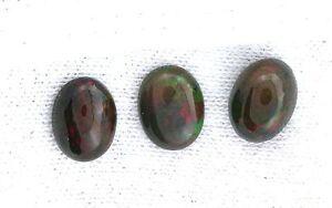 2-61-Carat-Oval-8x6-Black-Opal-Cab-Cabochon-Gemstone-Gem-Stone-EBS7288