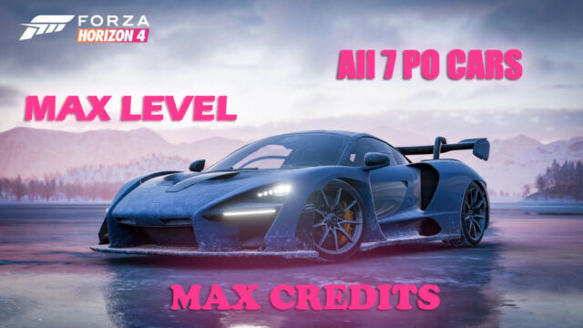 Forza Horizon 4 Modded Account  All PO Cars  20,000 Spins + Max CR + HotWheels