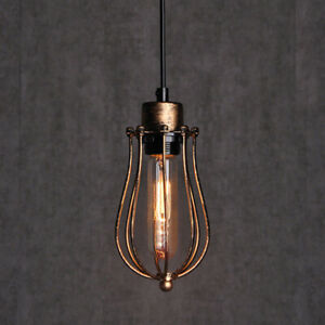 Style Pendant Wire Cage Hanging Light