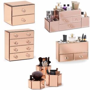 Image Is Loading Beautify Mirrored Jewellery Make Up Box Organiser For