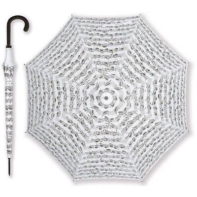 Vienna World mini Ombrello Nero spartito bianco