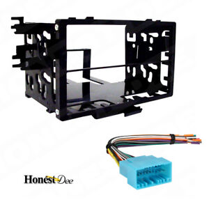 95-7801-Double-Din-Radio-Install-Dash-Kit-amp-Wires-for-Honda-Car-Stereo-Mount