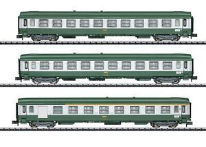Minitrix-Trix-N-15502-Schnellzugwagen-Set-034-Nizza-Paris-034-der-SNCF-NEU-OVP