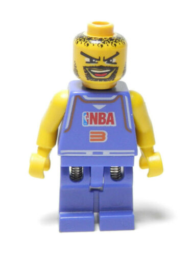 LEGO Minifig NBA player Number 3  NBA Slam Dunk  2003  Violet 6-12 Boys /& Girls