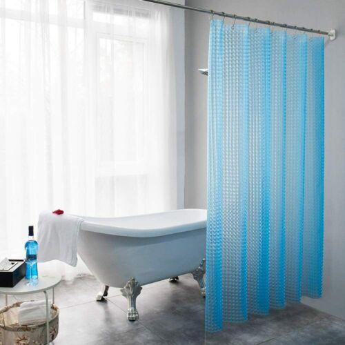 "Lejian PEVA 8G Heavy Duty Shower Curtain for Bathroom Blue 72/"" x 72/"" Honeycomb"