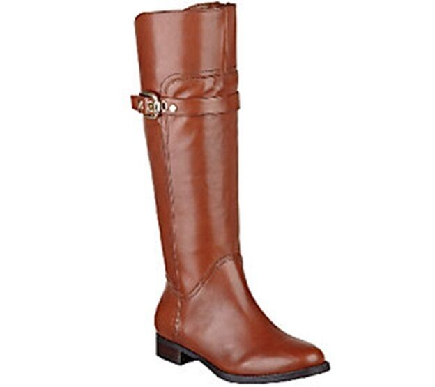 Marc Fisher Leather Wide Calf Riding Boots - Taite PICK SIZE & COLOR NWB