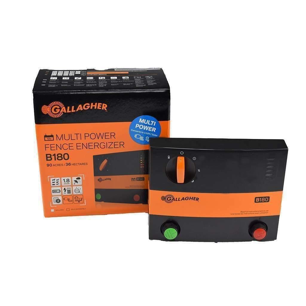 Gallagher B180 12V Batteria Recinzione Elettrificata ENERGISER SCHERMA Multi alimentazione di rete