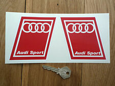 AUDI SPORT Red Handed Parallelogram Classic Car Stickers Quattro GT TT RS Q7 Q5