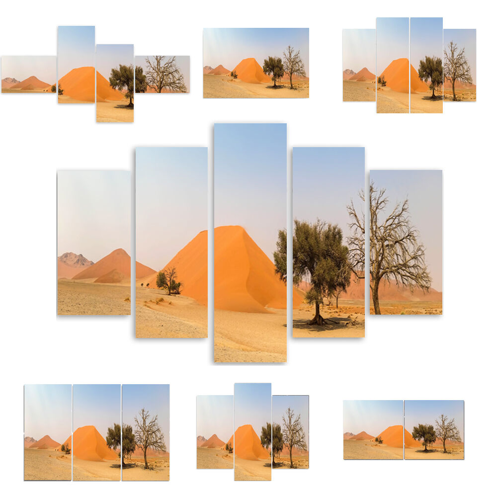 TOP LEINWAND BILD BILDER (54 Muster) MODERN HD Kunst Grün Orange Wüste 2589