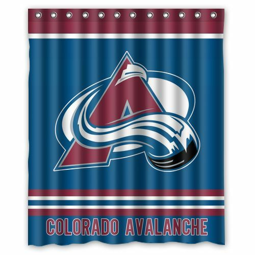 """Personalized Colorado Avalanche Hockey Waterproof  60/"""" x 72/"""" Shower Curtain"""