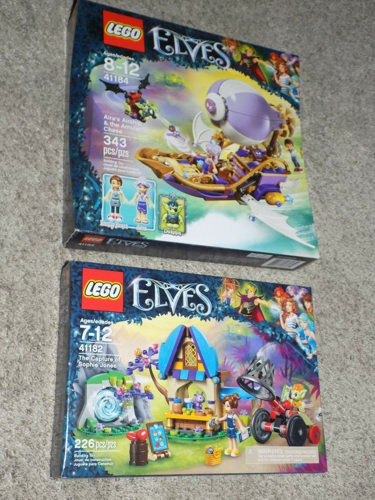 Lego Elves 41182 41184  all new in box