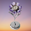 Crystocraft-Lilac-Flower-Crystal-Clock-Ornament-Swarovski-Elements-Gift-Boxed thumbnail 6