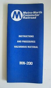 Vintage 1984 Metro North MN-200 Hazardous Material Instructions Manual