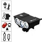 Solar Storm 6000 LM 3x CREE T6 LED Front Bicycle Light Bike Headlamp Headlight