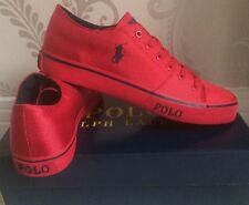 BNIB MENS POLO RALPH LAUREN CROFTON-NE SHOES/TRAINERS/SNEAKERS SIZE 10 IN RED