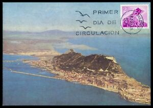 Spain Mk 1969 Gibraltar Maximum Carte Carte Maximum Card Mc Cm Az60 Confortable Et Facile à Porter