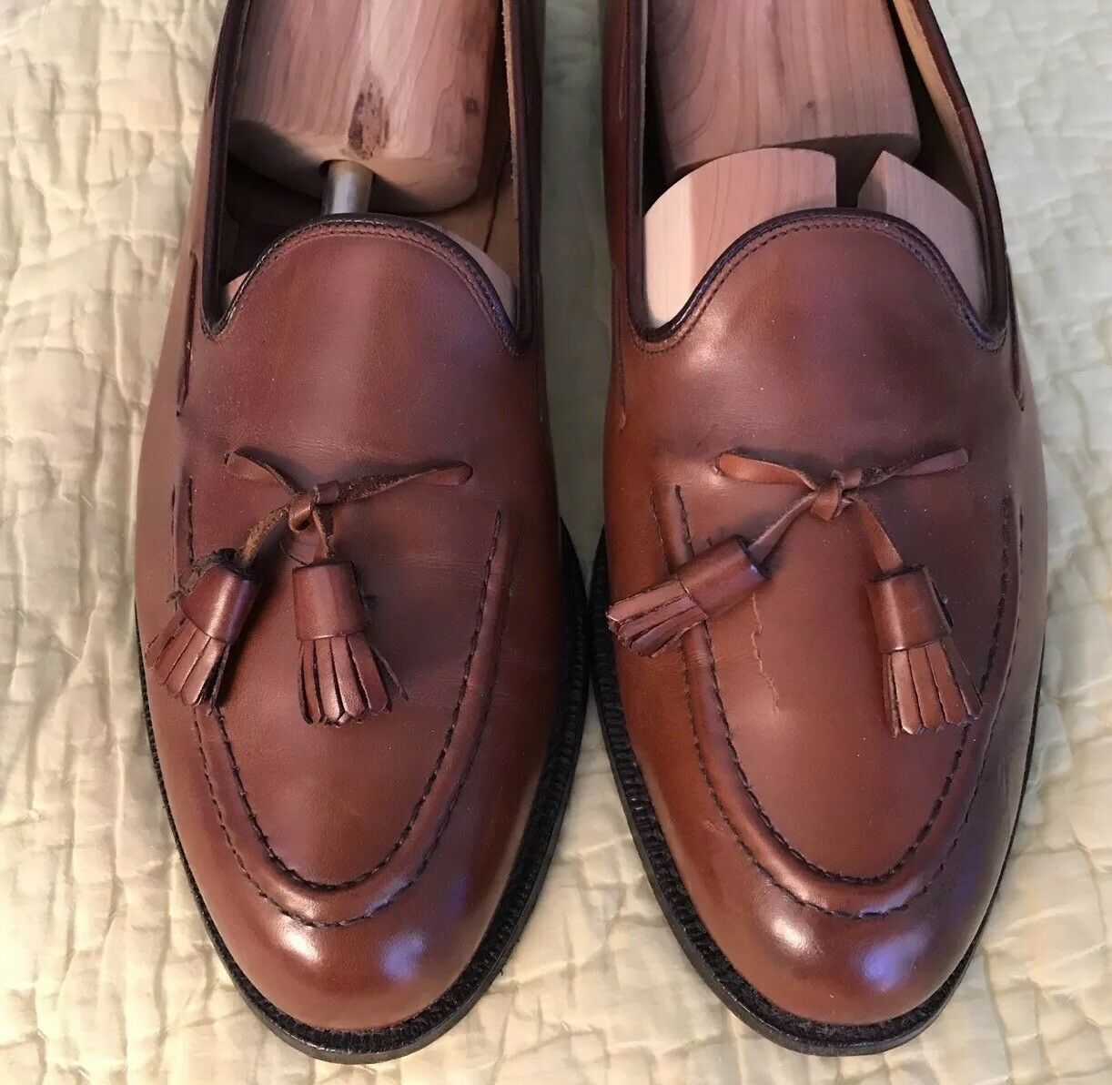 migliore marca KEATS KEATS KEATS Marrone  CHURCH'S  CUSTOM GRADE TASSEL SLIP ON LOAFER 12 D GUARANTEED  liquidazione fino al 70%
