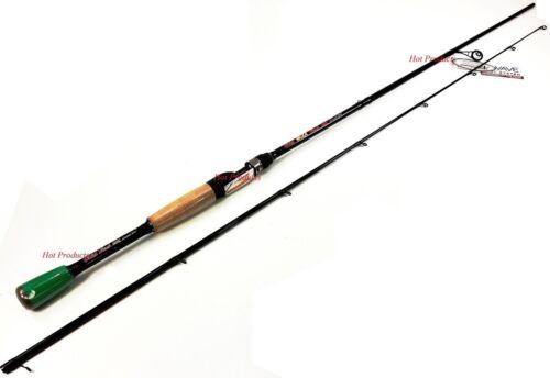 COLLAPSIBLE 2PC Carrot Stix SPINNING 7/' MEDIUM Wild Black Microwave Fishing Rod