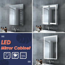 Designer Wall Hung Bathroom Illuminated LED Mirror&Cabinet IP44