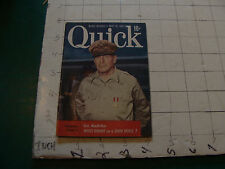 vintage QUICK magazine - 1952 May 19, GEN. MacARTHUR cover, WHITE NIGHT