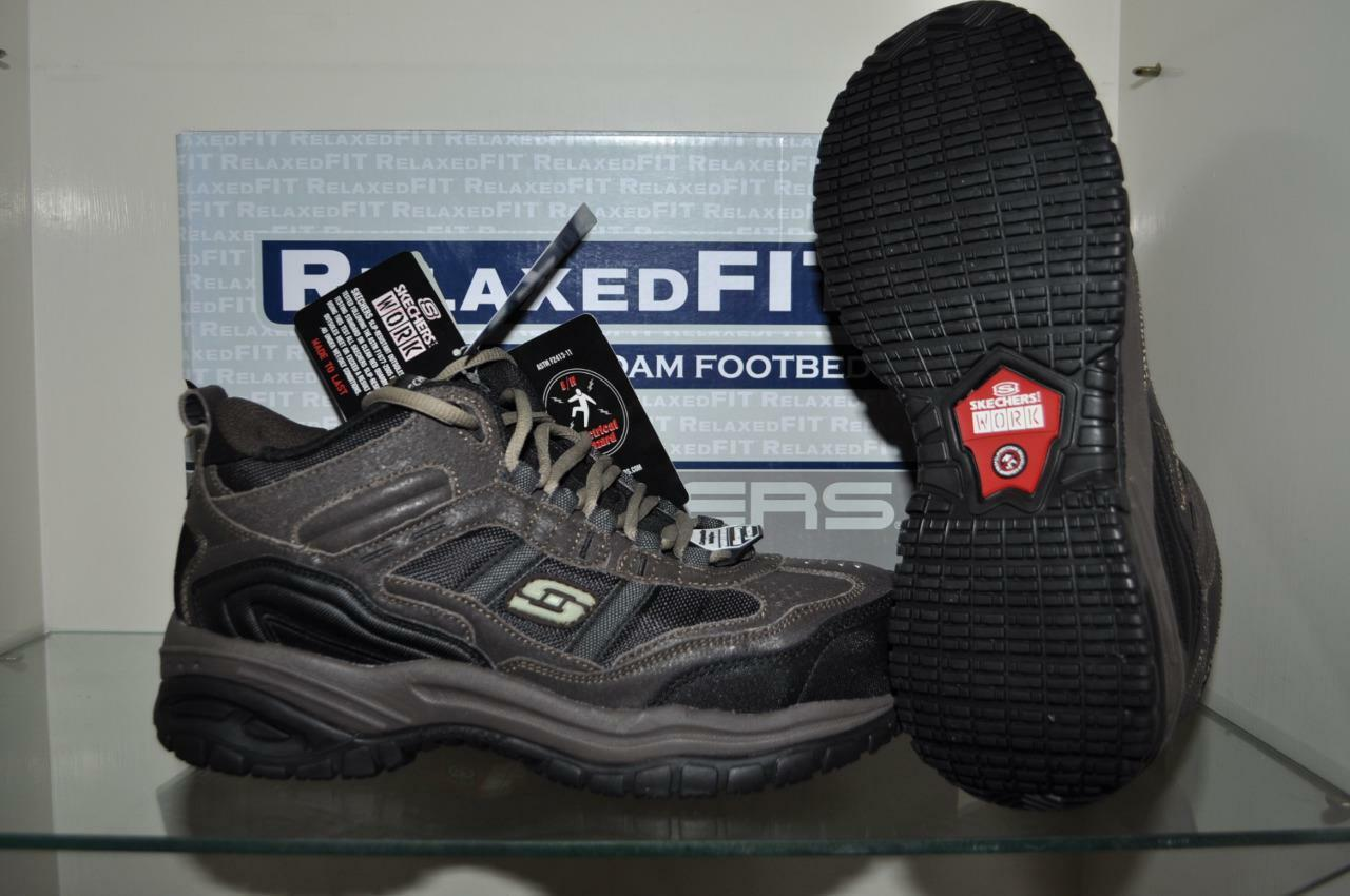 Skechers 77027 BRBK SOFT STRIDE-CANOPY COMPOSITE TOE Mens Work shoes NIB