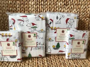 Pottery-Barn-Kids-Peanuts-Holiday-Snoopy-Full-Queen-Duvet-Shams-Full-Sheet-Set