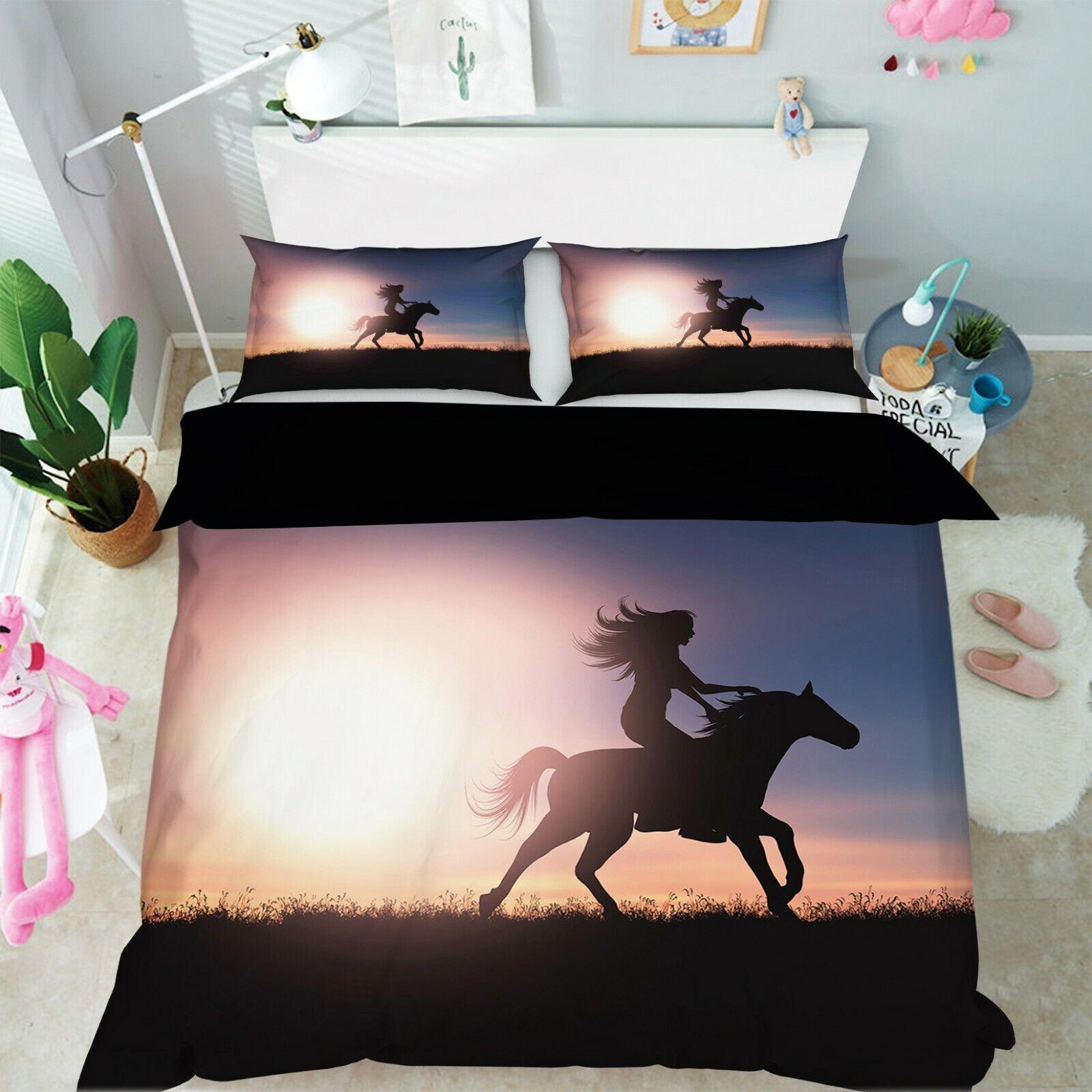 3d Sunlumière Riding m94 animal lit housses de coussin couverture couverture couverture Set à