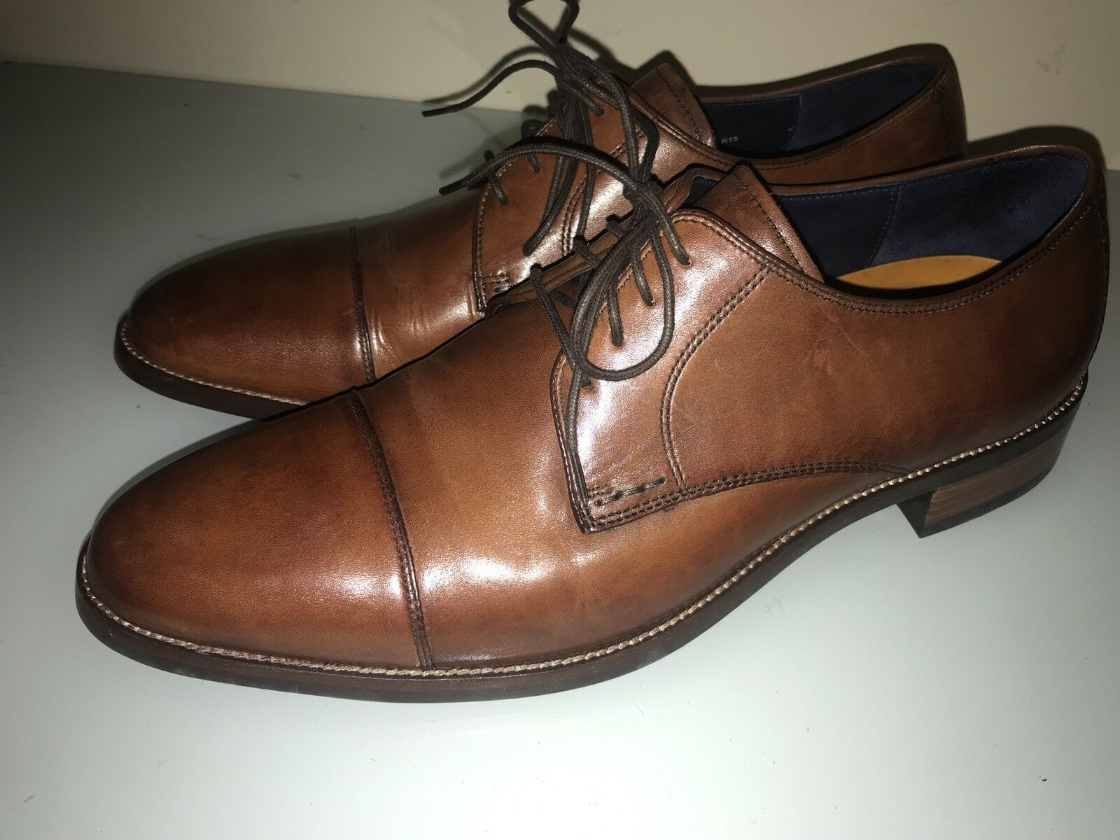 Cole Haan Lenox Hill Cap Ox Mens Leather Oxford US 13 M Brown Oxford C11632