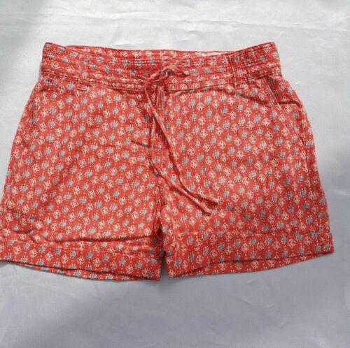 Womens Linen Mix Shorts Printed Coral Mix EX N*XT Size 6-16 Petite RRP £16