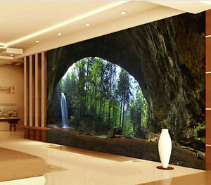 Ash Cave Hocking Hills Park Full Wall Mural Photo Wallpaper Print Home 3D Decal