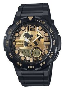 Casio-Watch-AEQ100BW-9AV-Telememo-3D-Dial-Gold-amp-Black-COD-PayPal
