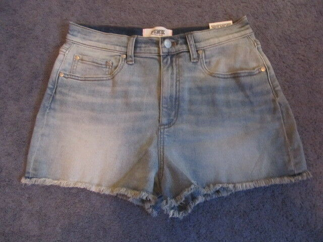NWT VICTORIA'S SECRET PINK HIGH WAISTED CUT OFF DENIM SHORTS SIZE 10 LIGHT blueE