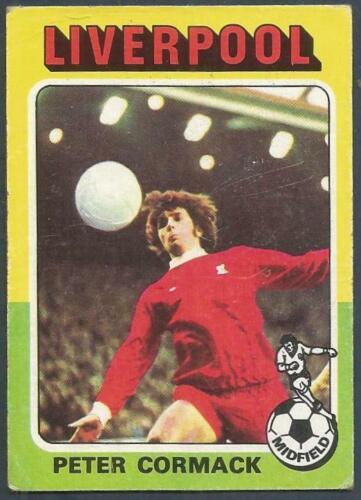 TOPPS 1975 FOOTBALLERS #135-LIVERPOOL-PETER CORMACK