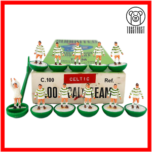 Subbuteo-Team-Celtic-Shamrock-Rovers-Ref-25-Vintage-Table-HW-Heavyweight