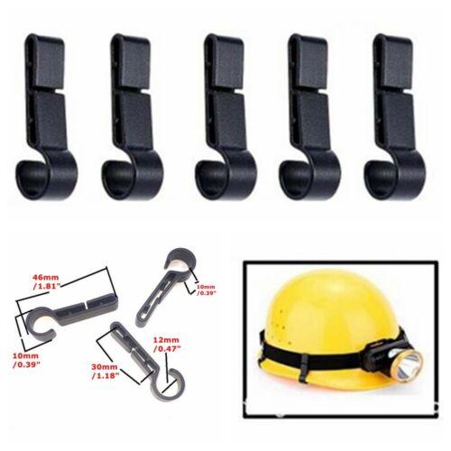 Easily Mount Fixing Anti-Slip Safety Cap Helmet Clips Headlamp Buckle Hook 20Pcs