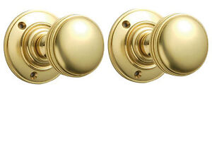 YALE QUALITY DOOR KNOBS - AVAILABLE IN 5 STYLES - CHROME, BRASS OR ...