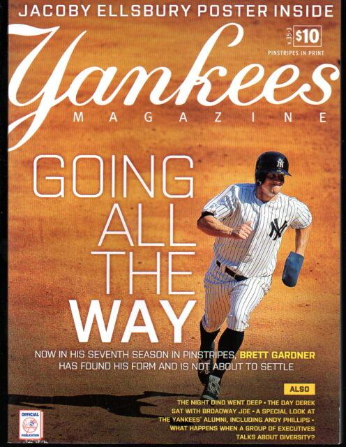 Yankees Magazine May 2014 v.35-3 Derek Jeter Jacoby Ellsbury Brett Gardner