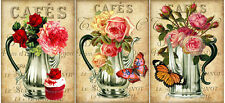 """""""FLORAL CAFE!"""" (47) SCRAPBOOK CARD EMBELLISHMENTS HANG/GIFT TAGS"""